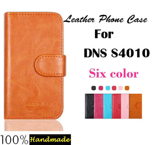 High Quality DNS S4010 Leather Case Cover For DNS S4010 Protective Phone Case with card holder wallet 6 Colors Free Shipping