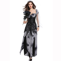 Scary Ghost Bride Costume Halloween Role Playing Game Death Devil Zombie Fancy Dress Carnival Cosplay Sexy Costumes For Adults