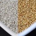 2mm 1500 Unids de oro y plata de la Semilla De Cristal Checo Espaciador de Los Granos Para Hacer La Joyería BLUV02X