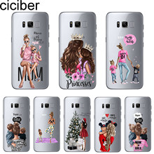 ciciber Coque For Samsung Galaxy S10 S8 S9 S10e S6 S7 Plus Edge Phone Case For Note 10 9 8 5 4 Plsu Cover Soft TPU Baby Mama Mom(China)