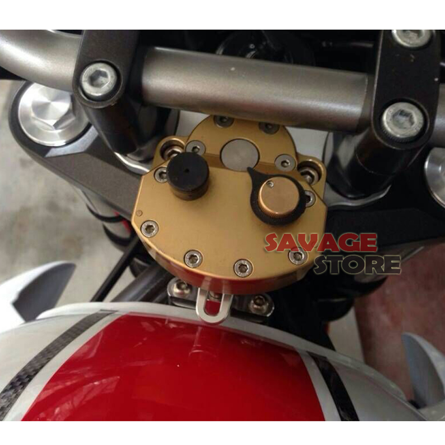 Para YAMAHA XJ6/Desvío/F FZ-6R FZ6R Motocicleta Accesorios amortiguadores de Direccion Estabilizador con Kit De Soporte de Montaje