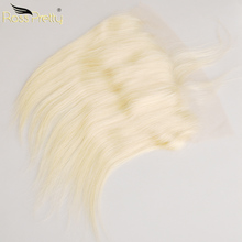 Straight Brazilian Hair Color Blonde Frontal Remy Human Ear to Lace color 613 Front 13x4 Middle and free part