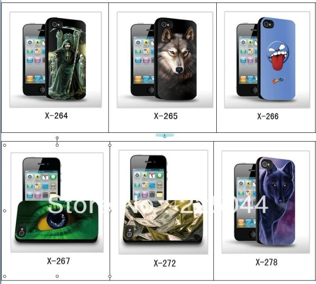 3d Stereoscopic Three-Dimensional wholesale cute pattern   for iPhone 4s cell phone case free Shipping high quality  060