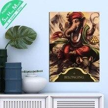 дешево!  1 Шт. Принадлежащий Будде Ганеша HD Печатные Холст Wall Art Плакаты и Принты Плакат Живопись  Лучший!