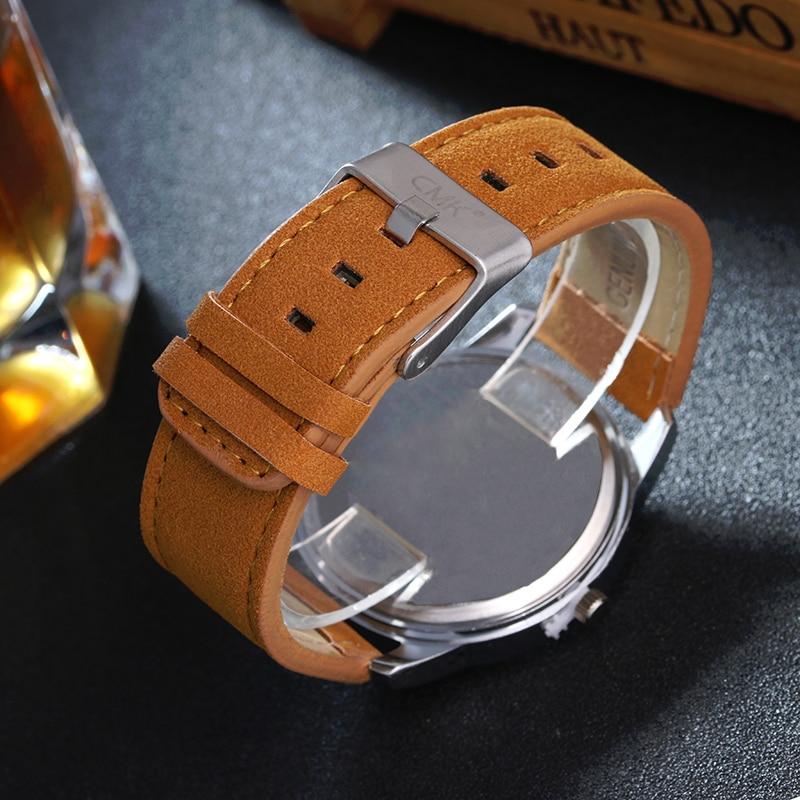 Military Leather Business Quartz Luxury Sport Casual wrist Men Watch 5