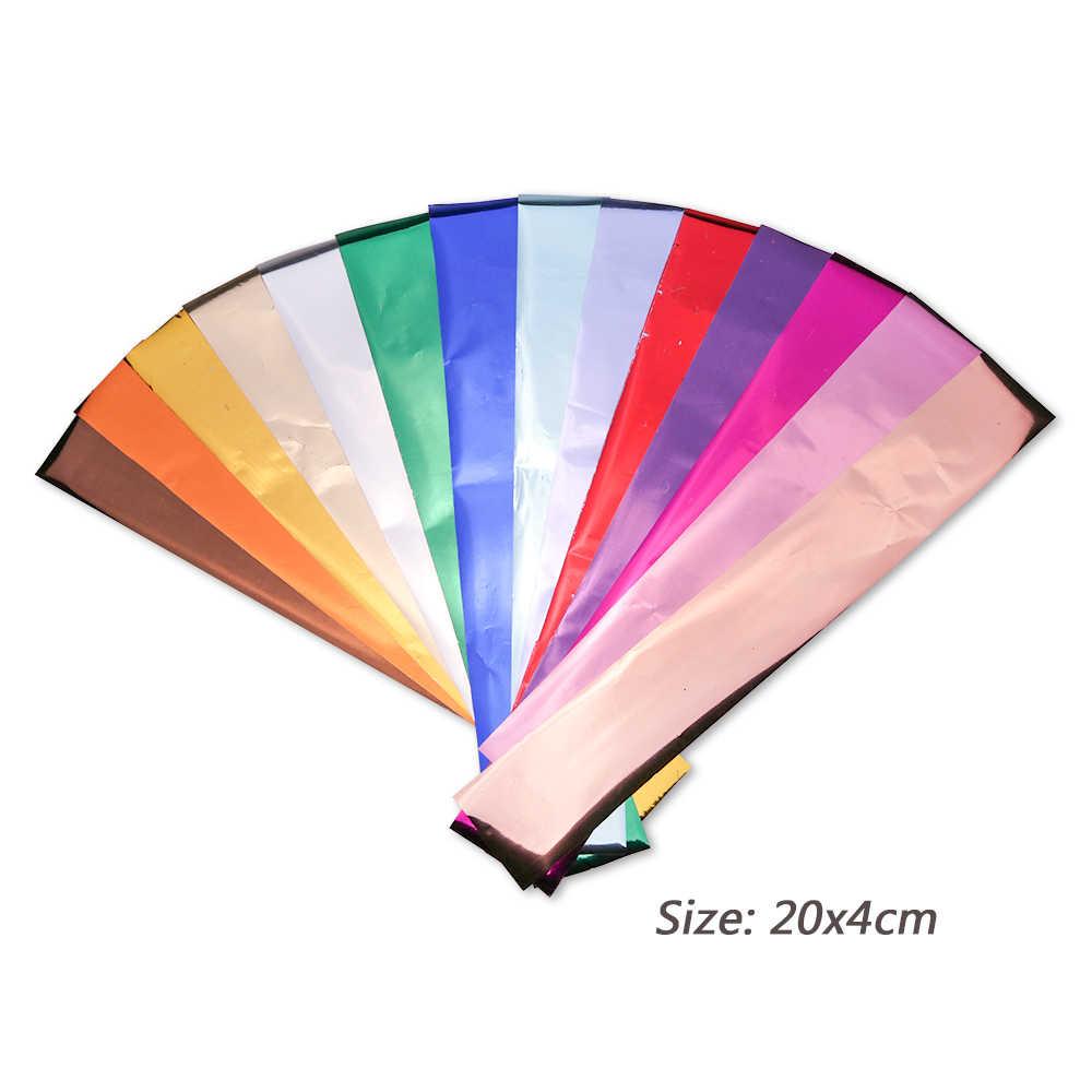 14 stücke Charme Nagel Folien Aufkleber Polish Metall Farbe Starry Papier Transfer Folie Wraps Adhesive Decals Nail art Dekorationen BE996