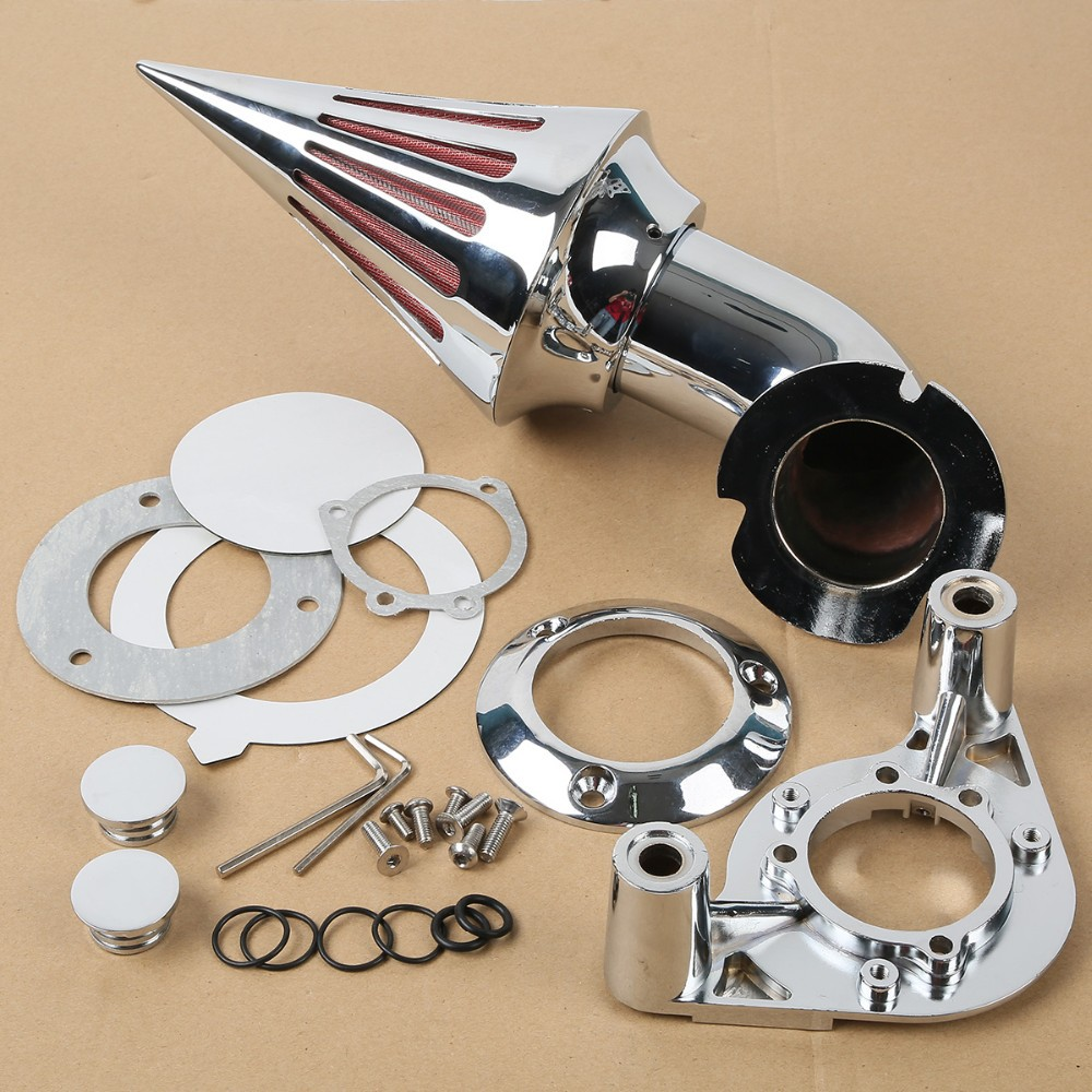 Chrome Spike Air Cleaner Intake Filter For Harley 1200 883 XL XLH1200 Sportster Air Filter chrom cone spike air cleaner intake filter kit for harley sportste cv s