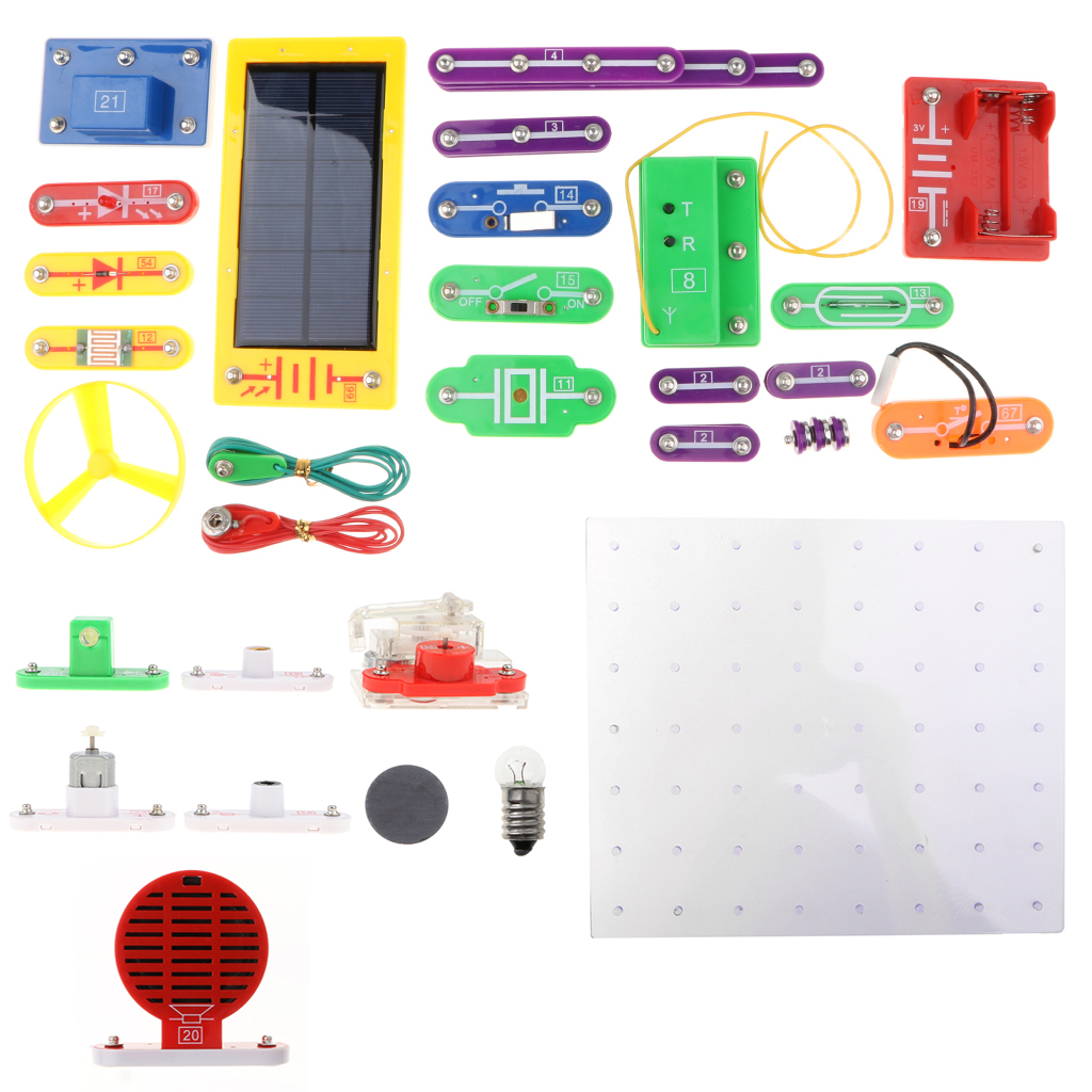 1000-in-1 38pcs DIY Electronics Learning Kits Electricity Magnetism Experiment Building Blocks Project Educational Toy -W-688 w 5889 electronics exploration kit diy building blocks kids science learning toy 5889 projects english manual 44 pieces