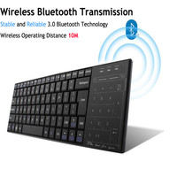 2018 New Utra thin Mini Wireless Keyboard Bluetooth Touchpad Gaming Board 83 keys+18 touch keys For Windows IOS Android Tablet