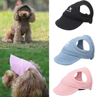pet-hat-with-ear-holes-dog-sport-baseball-for-sun-protection-adjustable-buckle-design-outdoor-wear-resistant-dog-cap