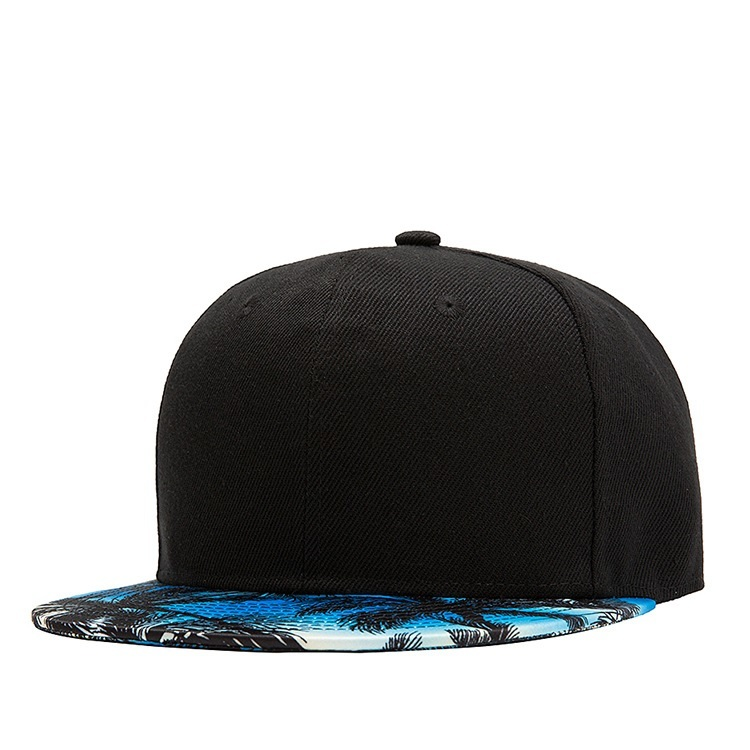 Coconut Tree 3D Printing Hip-hop Cap Blank Snapback Hat Plain Baseball Caps