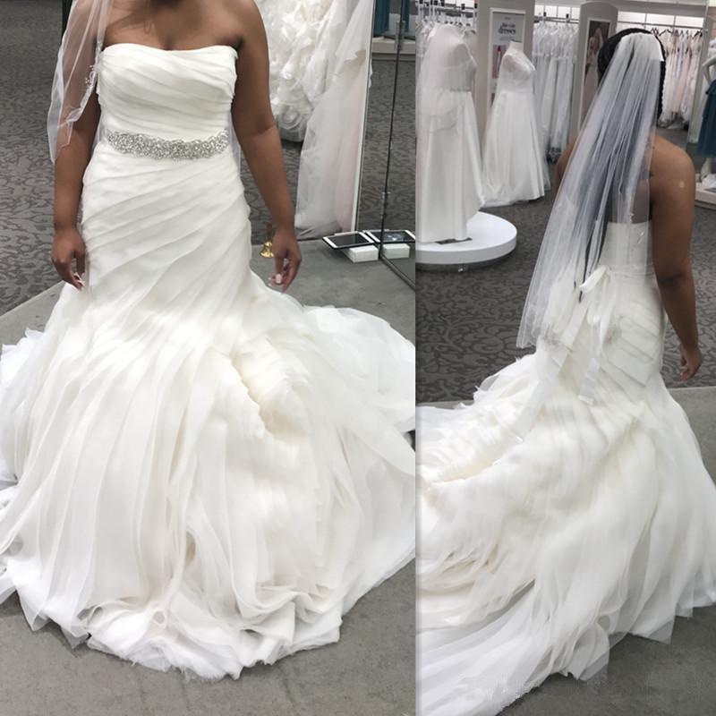 Cool Wedding Gowns: 2019 Gorgeous Unique Wedding Dresses Strapless Plus Size