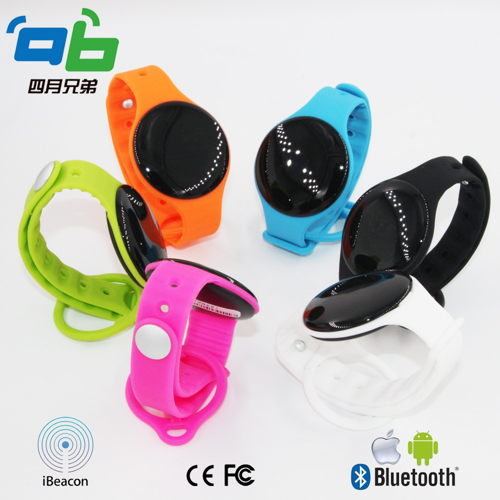 Wearable Bluetooth beacon Ibeacon Tech supported BLE 4 0 Tag