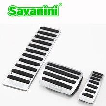 Savanini Автомобильная подножка тормоза газа педаль акселератора для Audi A5 Q5 A7 A6 A8 AT/MT Алюминиевый нескользящий стиль