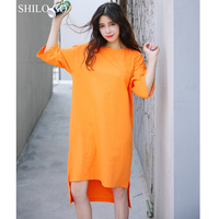 SHILOไปผู้หญิงชุดฤดูร้อนเกาหลีG Raffitiหนังสือพิมพ์Asymmetriacal
