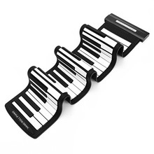 Silicone Flexible Portable USB 61 Keys MIDI Roll up Electronic Piano Keyboard For Piano Musical Instruments Lover Gift