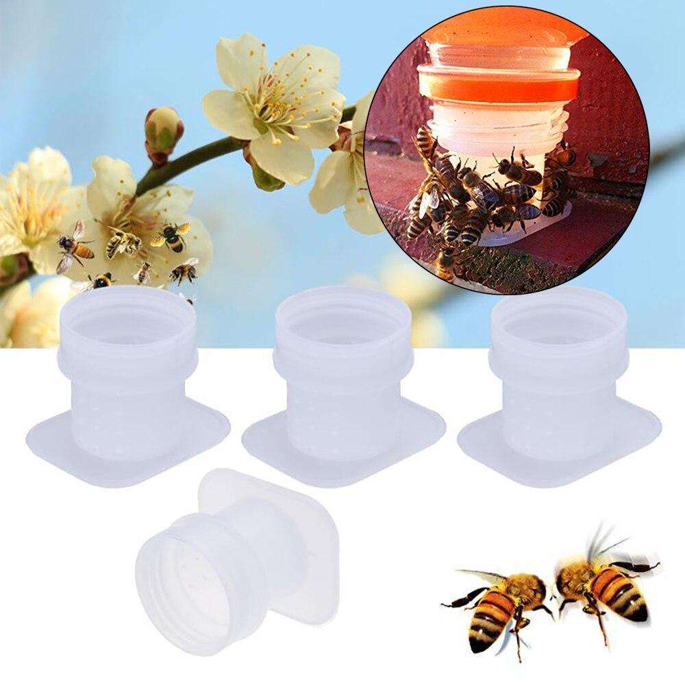 8PCS Feeders For Bees Feeder Plastic Water Drinking Bowl Waterer Honing Food Beekeeping Supplies Honey Tools Apiculture Tool