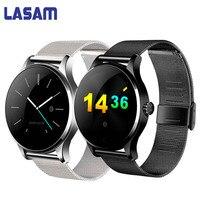 Original LASAM Bluetooth Relógio Inteligente Monitor de Pressão Arterial e Freqüência Cardíaca Esporte Pulseira Inteligente Para A Apple IOS Android PK Huawei M7