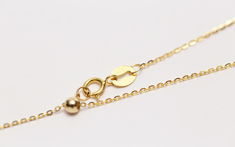 Sinya 18k Classical AU750 Gold Universal Chain 0.8gram Pure Gold Adjustable Chain DIY necklace accessrioes best Gift For Women (3)