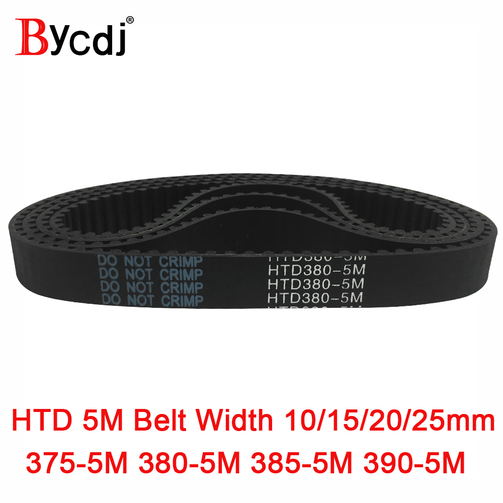 Arc HTD 5M Timing belt C=375/380/385/390 width10/15/20/25mm Teeth 75 76 77 78 <font><b>HTD5M</b></font> synchronous Belt375-5M 380-5M 385-5M 390-5M image