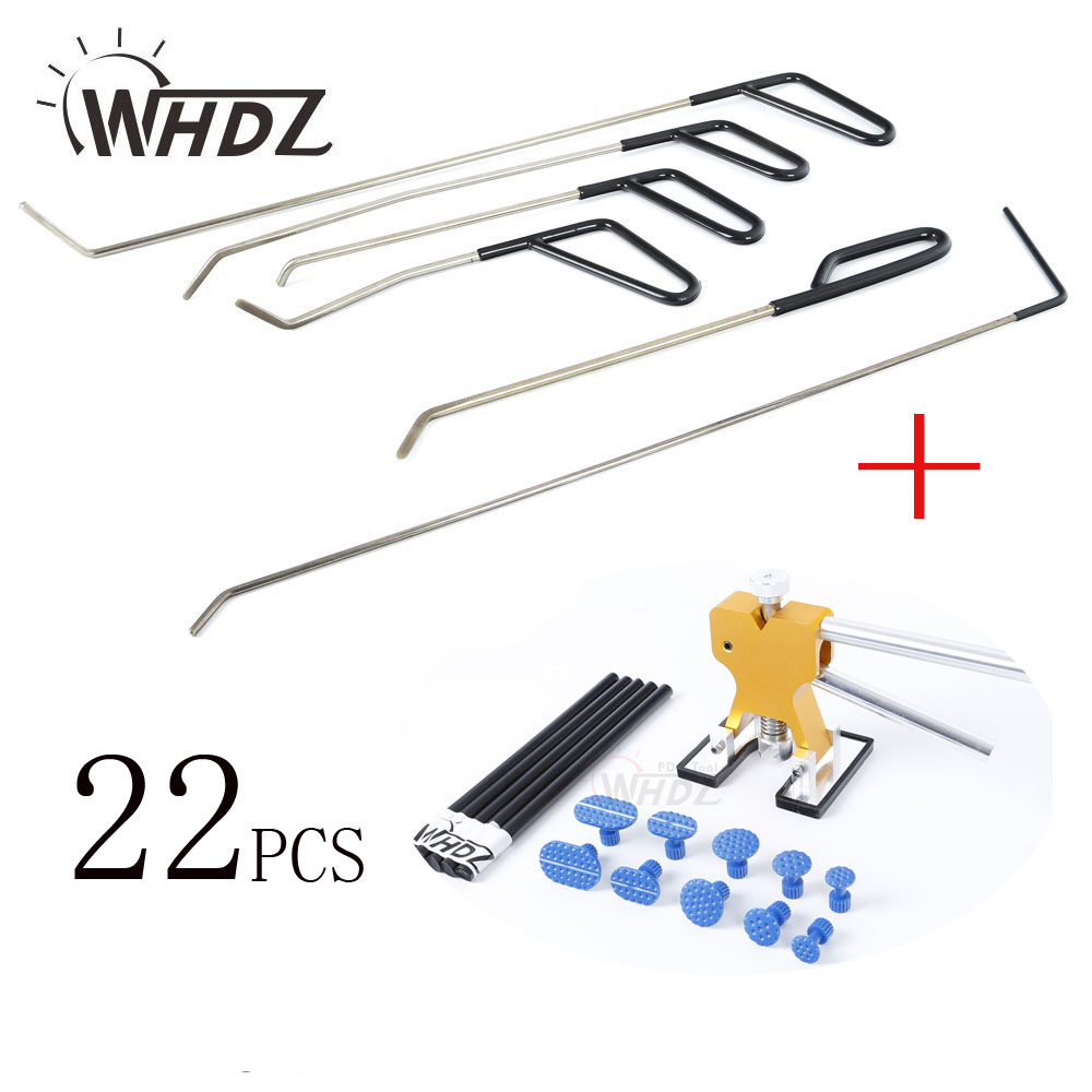 22 Pcs Paintless Dent Repair Tools PDR Set Rods Dent Removal PDR Tool Dent Removal