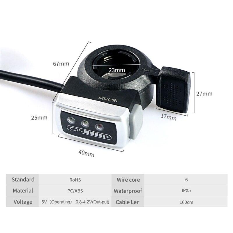 Thumb Throttle Electric Bike eBike 36V Motor Speed Controller LCD Display