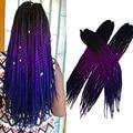 "Havana Mambo Twist Crochet Braid Hair22""100gram/pcs Ombre Kanekalon Kinky Marley Twists Braiding Hair Extension jumbo braid hair"
