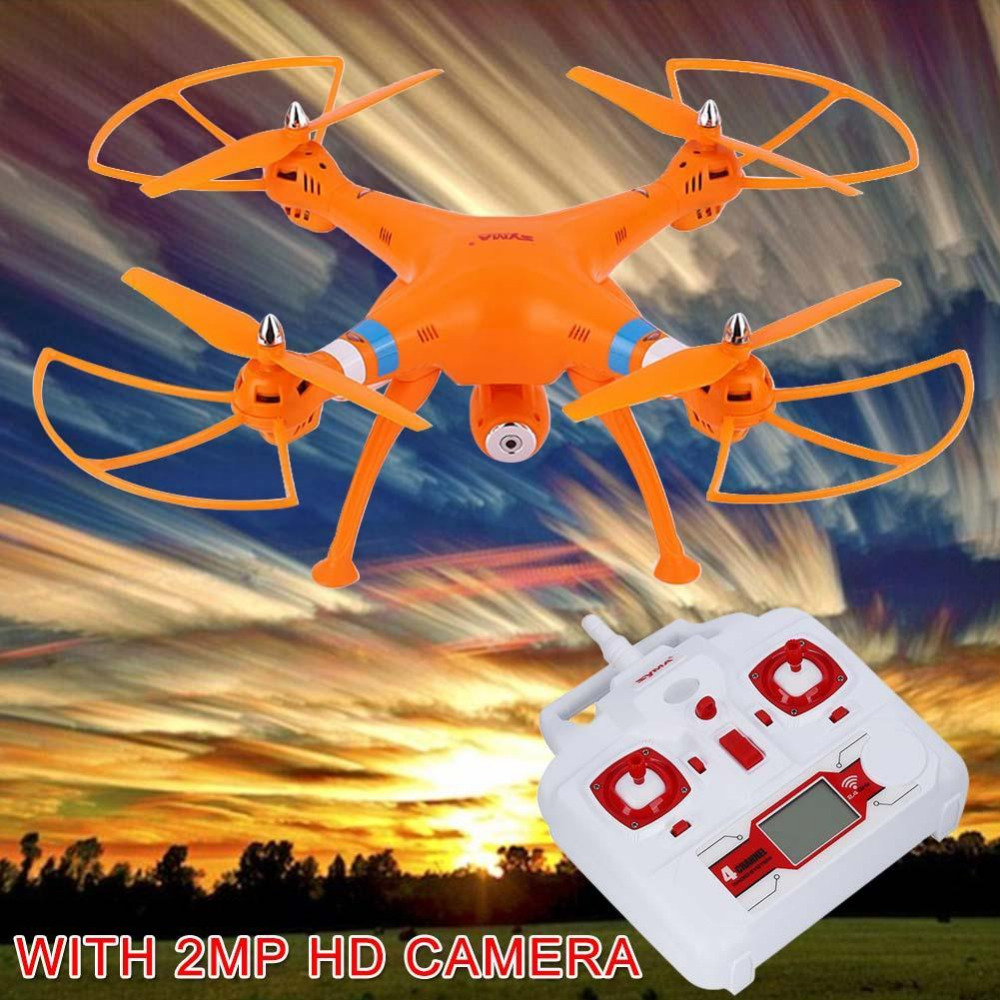 2.4G 6-Axis gyroscope RC Quadcopter UAV RTF UFO 2MP HD Camera For Syma X8C orange firefly q6 hd video camera light camera 4k fpv quadcopter 40g camera uav for rc drones built in gyroscope stabilization