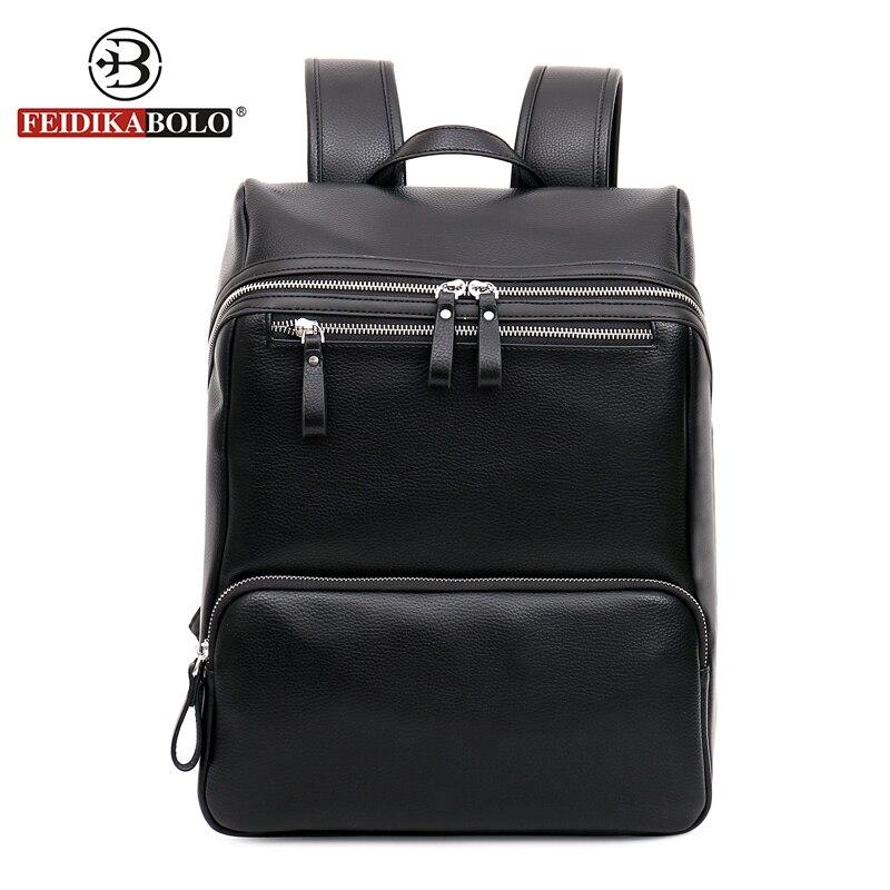 ФОТО Famous Brand Bag Men Back Pack Vintage Leather Backpack Laptop Men Motorcycle Black Backpack Morrales Mochila Masculina Cuero