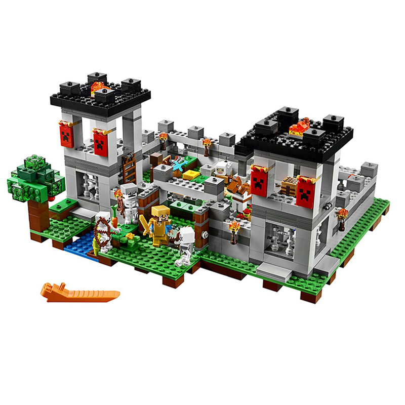 Compatible Legoe giftse 10472 Pogp 990pcs+ The Forest Minecraft Gifts Building Blocks Bricks Toys compatible legoe giftse 1118pcs 10170 series housework time panorama 3185 girls friends building blocks bricks toys