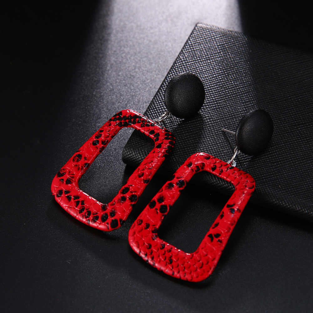 HTB1Wej3T4jaK1RjSZKzq6xVwXXaq - Trendy Party Jewelry Vintage 2019 Women's Fashion Statement Earring Red  Brown Black Color Long Wooden Brincos Wedding Gift