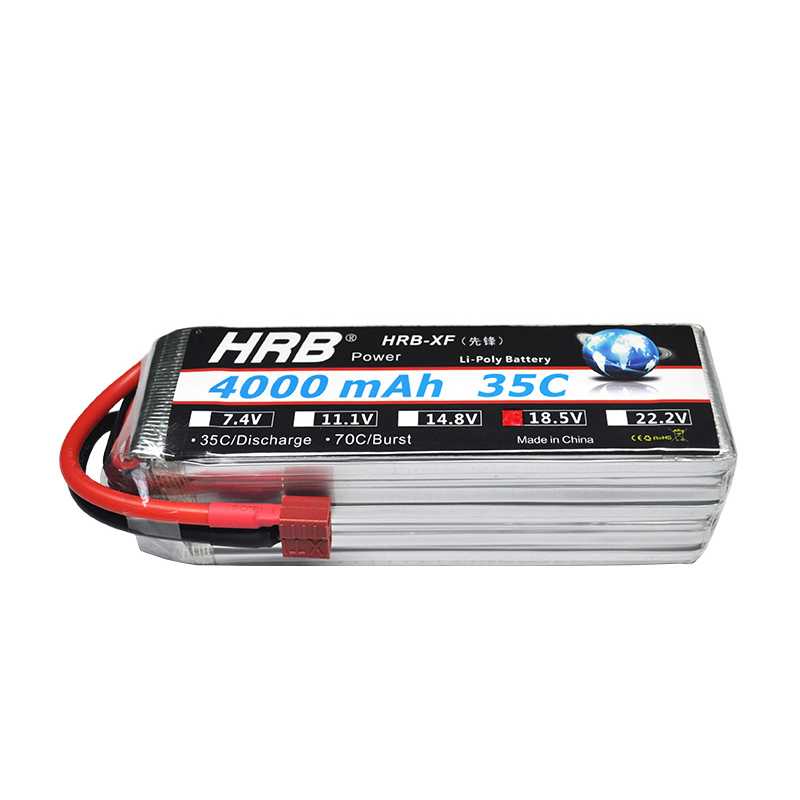 цена HRB RC 5S Lipo Battery 18.5V 4000mAh 35C-70C Drone AKKU Bateria For Helicopter Car Boat Quadcopter RC Airplane UAV FPV