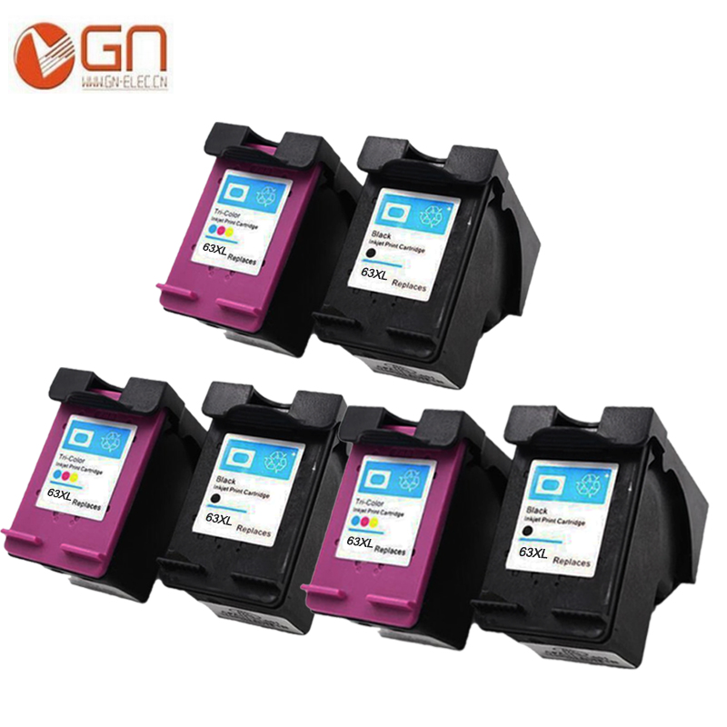 GN 3 set for HP 63XL remanufactured ink cartridge for hp 63 for hp Officejet 4650 3830 3831 3832 3834 4652 4654 4655