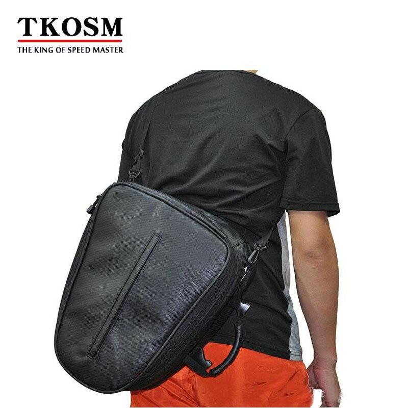 TKOSM 2017 offre spéciale sac à durée limitée moto rugueuse & route RR9016 paquet/moto sac arrière rétro siège queue Pack équitation