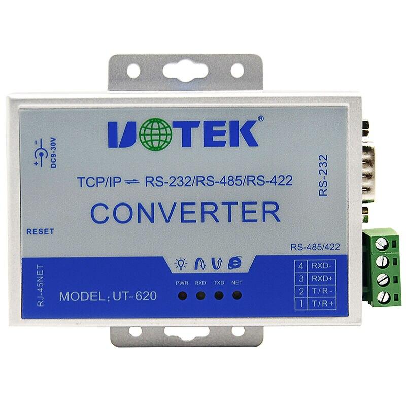 UT-620 server serial port 422/485 to RS232 TCP IP protocol converter