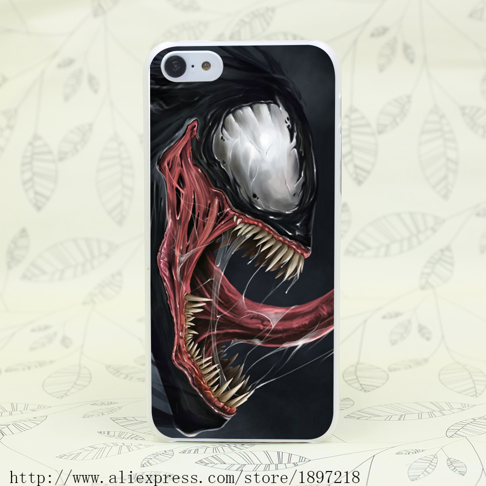 4291T Spider Man 3 Venom Marvel Comic Black Hard Transparent Cover Case for iphone 4 4s 5 5s 5C SE 6 6s Clear Cell Phone Cases