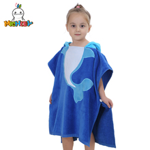 2014 New Arrival Baby Bath Towel Cartoon Dolphins Lovely Hooded Towel For Babies Cloak Blue Towels Cloak YE0014 цена