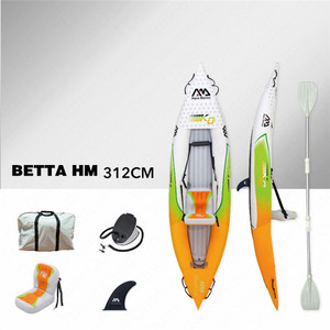 Image 2 - AQUA MARINA 2019 New Betta HM Inflatable Boat Double Persons Fishing Rowing Boat Inflatable Kayak Sports Canoe 312*83cm/412*83cm