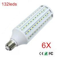 6PCS SUPER POWER 40W E27 LED Wall lamps 5730 SMD Corn LED Bulb Chandeliers 132 LEDs Ceiling light AC 220V 240V Pendant lights