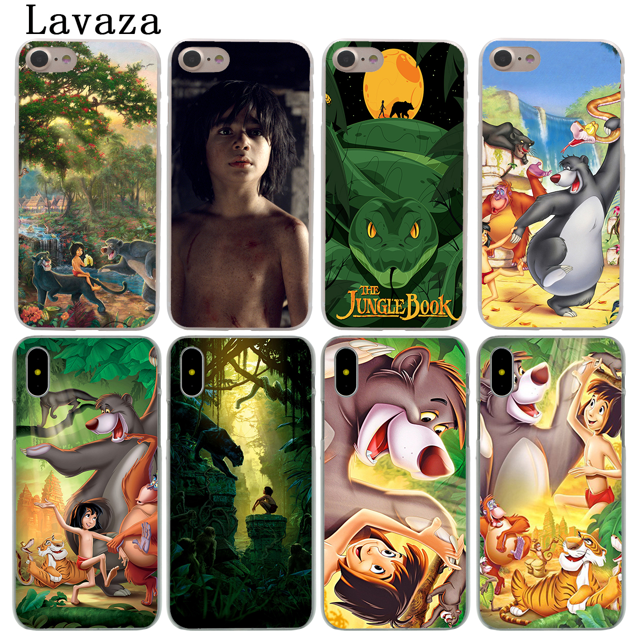 Lavaza Cartoon The Jungle Book Hard Fashion Phone Shell Case for Apple iPhone X 10 8 7 6 6S Plus 5 5S SE 5C 4 4S Coque Cover