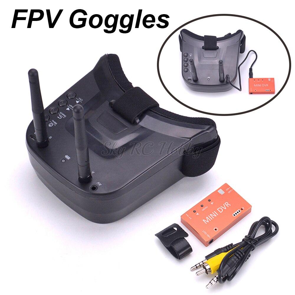 FPV 3 Inch 480*320 Display 5.8G 40CH Mini FPV Goggles Built-in 1200mah battery / Mini DVR Video Audio Recorder for VR RC DroneFPV 3 Inch 480*320 Display 5.8G 40CH Mini FPV Goggles Built-in 1200mah battery / Mini DVR Video Audio Recorder for VR RC Drone