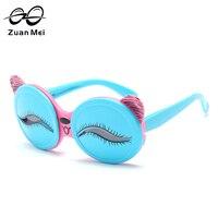 Zuan Mei Śliczne Oczy Niedźwiedź Okulary Dla Dzieci Różowy Akcesoria Okulary Spolaryzowane Różowe Dziewczyny Modne Okulary Słoneczne Dla Kid ZM3472