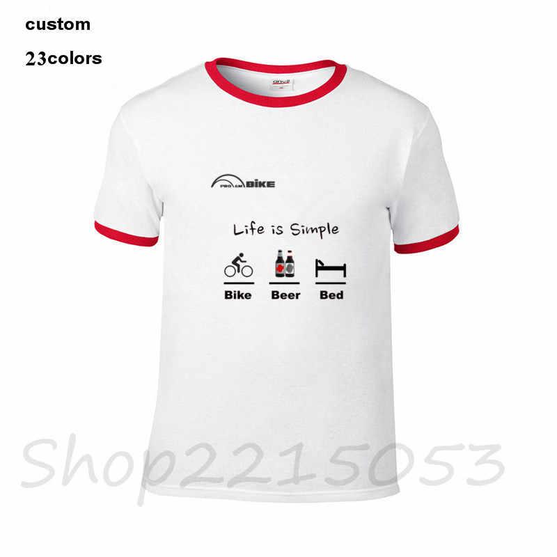 4c27dc978 ... 2018 Biker Shirt Life is Simple Beer Bed Men funny biking T-Shirt  Motorbike Concepts ...