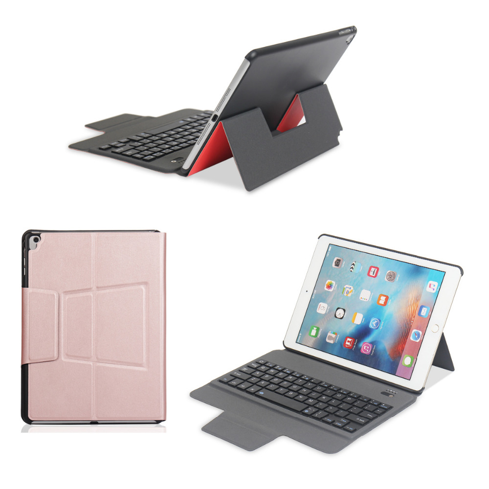 Super Slim Wireless Bluetooth Keyboard Case Fold Stand PU Leather Smart Cover For Apple iPad Pro 9.7 / Air 5 / Air2 6 Tablet for apple ipad air 2 pu leather case luxury silk pattern stand smart cover