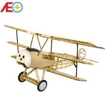 цена на Balsawood Airplane Model Laser Cut Electric Power Fokker DRI 1540mm Wingspan Building Kit Woodiness model /WOOD PLANE