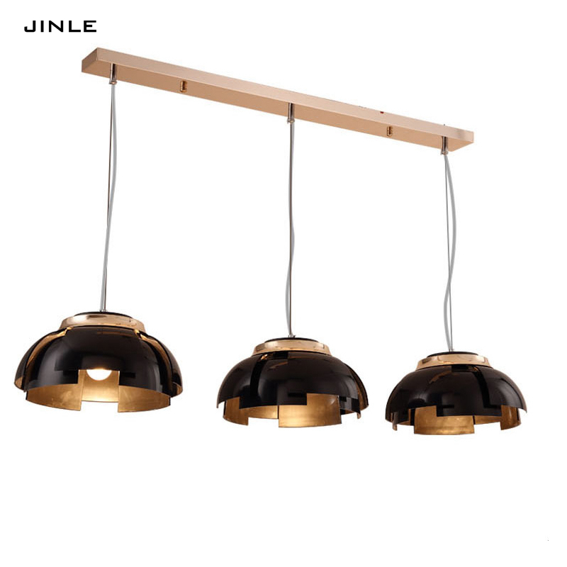 Postmodern simple LED pendant lights restaurant lamp fashion designer living room bedroom personality black gold 1/3 BULBS lamp комарова д пер в зоопарке