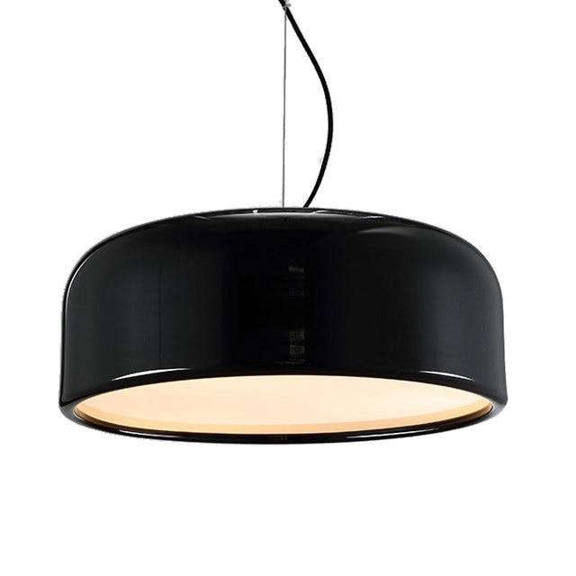 wongshi Modern Black White Metal Round Pendant Lamp Smithfield Design Pendant Lamps For Dinning room Livingroom