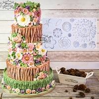 Yueyue Sugarcraft Flower Silicone Mold Fondant Mold Cake Decorating Tools Chocolate Gumpaste Mold