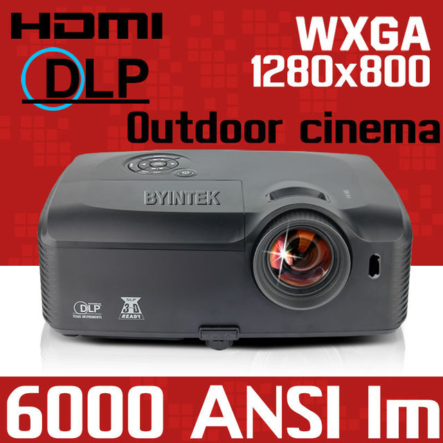2016 DLP Cinema HDMI 1080 p full HD 300 inch 5000ANSI 6000 Presentación de holograma Trasera Luz de Vídeo USB Proyector Proyector beamer