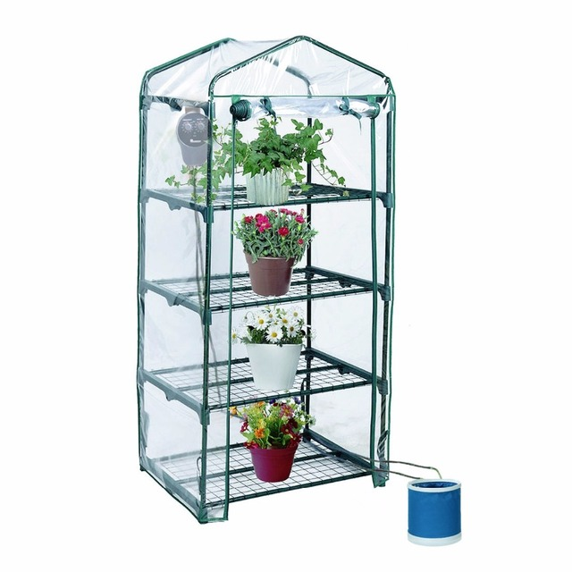 4 Tiers Portable Greenhouse Small Garden Home For Plants, Flowers, Bonsias  #Greenhouse01